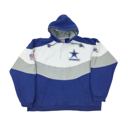 90's NFL x Cowboys Button Hoodie - Medium