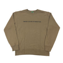 Load image into Gallery viewer, Benetton Spellout Sweatshirt - Large