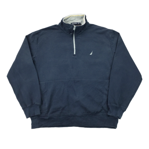 Nautica 1/4 Zip Sweatshirt - Large