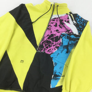 Retro Multi Color Zip Sweatshirt - Small