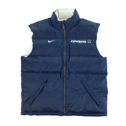 Nike 90s Cowboys NFL Puffer Reversible Gilet - Medium