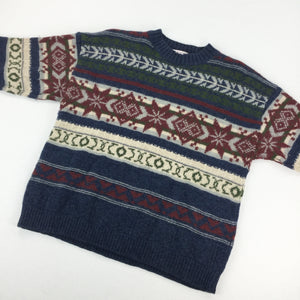 Stefanel Wool Cosby Sweatshirt - Medium