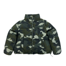 Load image into Gallery viewer, Camo Puffer Jacket - Medium