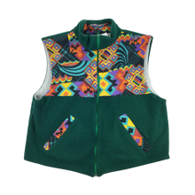 Load image into Gallery viewer, Crazy Fleece Zip Vest - Medium