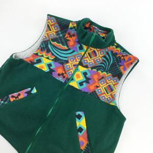 Crazy Fleece Zip Vest - Medium