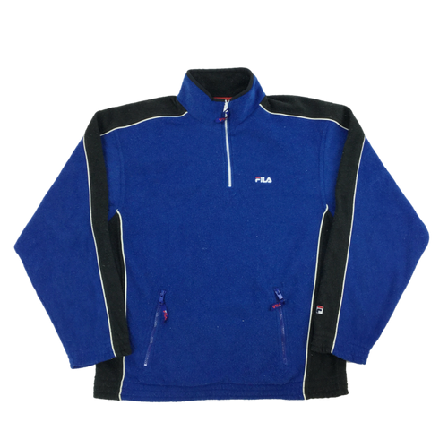 Fila 1/4 Zip Fleece Sweatshirt - Large