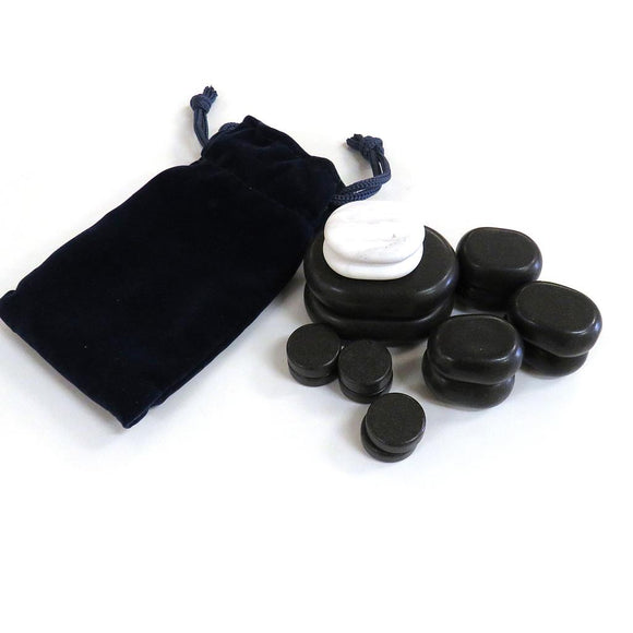 16 Pcs Facial Massage Stone Set - SpaSupply