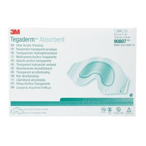 3M Tegaderm Absorbent Clear Acrylic Dressing, Sacral Design - SpaSupply