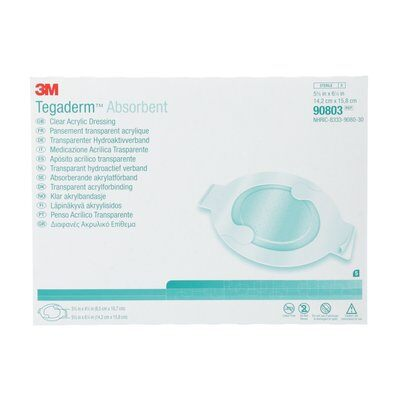 3M Tegaderm Absorbent Clear Acrylic Dressing, Large Oval - SpaSupply