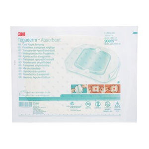 3M Tegaderm Absorbent Clear Acrylic Dressing, Large Square - SpaSupply