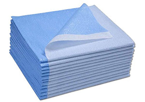 "Disposable Drape Stretcher Sheets Tissue/Poly 40""x90"" Blue 50/Case"