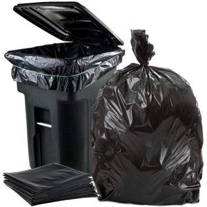 Heavy Duty Black Series Garbage Bags (35 x 47in, 75/Case) - SpaSupply