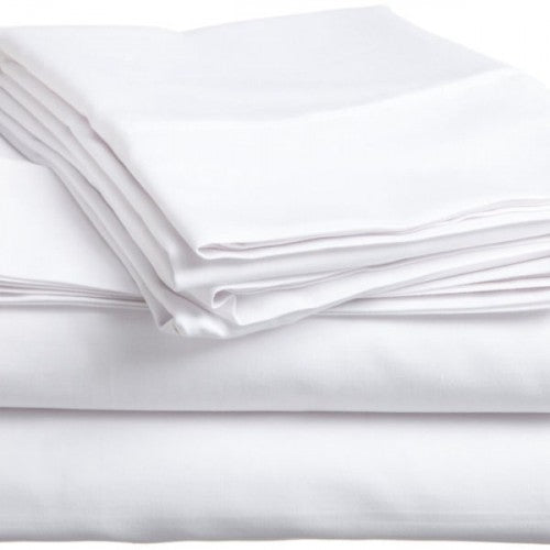 Fitted Massage Table Sheet Cotton-Poly (White) - SpaSupply
