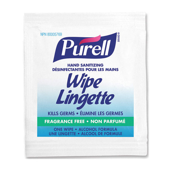 Purell Individually Wrapped Sanitizing Hand Wipes 1000/case