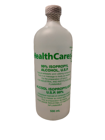 Healthcare Plus Isopropyl 99% Alcohol 500 mL (12 Bottles)