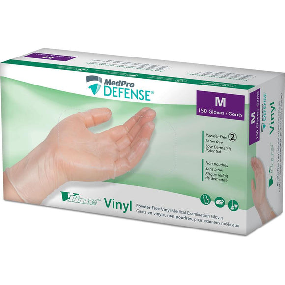 Medpro Defense Vline Powder-Free Vinyl Medical Examination Gloves (1,500/Case)