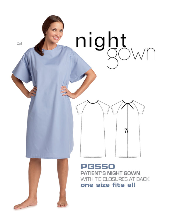 Patient's Night Gown - Unisex PG550 - SpaSupply