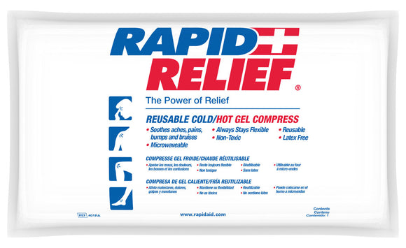 Rapid Relief Deluxe Hot/Cold Gel Compress 11″ x 10″