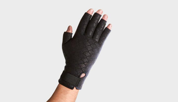 Thermoskin Fingerless Arthritis Gloves (Black)