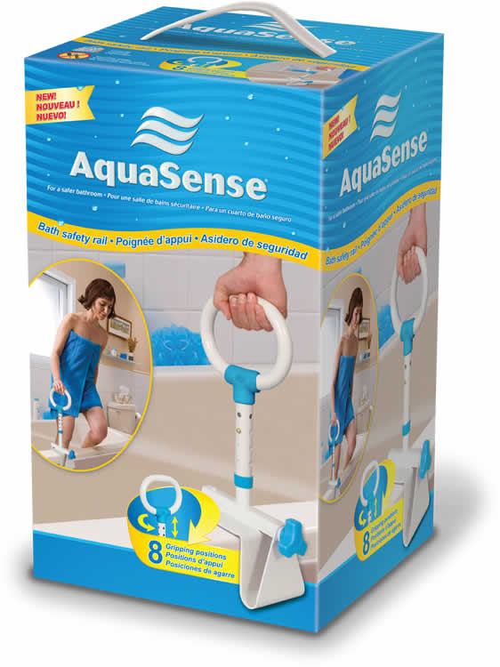 AquaSense Multi-Adjust Bath Safety Rail - SpaSupply
