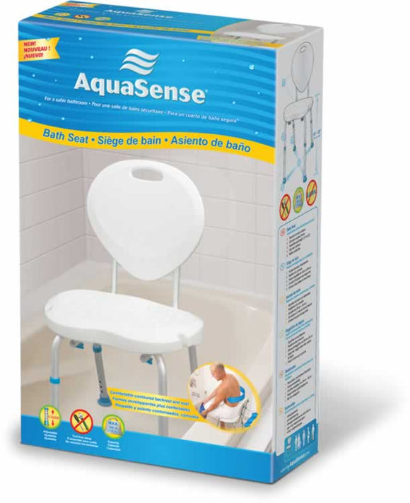 AquaSense Bath Seat Ergonomic Shape with Backrest - SpaSupply