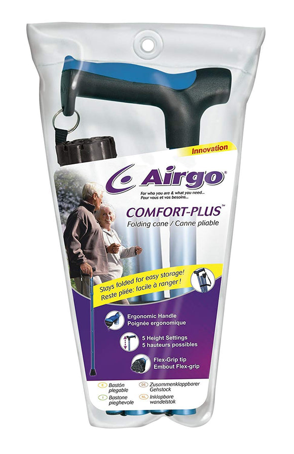 Airgo Comfort-Plus Folding Cane - SpaSupply