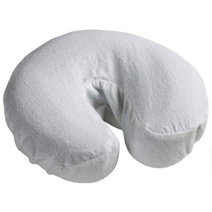 Cotton Flannel Fitted Face Rest Covers White (3 Pack) - SpaSupply