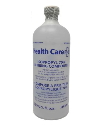 Healthcare Plus Isopropyl 70% Alcohol 500 mL (12 Bottles)