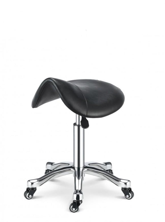 Hydraulic Saddle Stool w/ Metal Base - SpaSupply