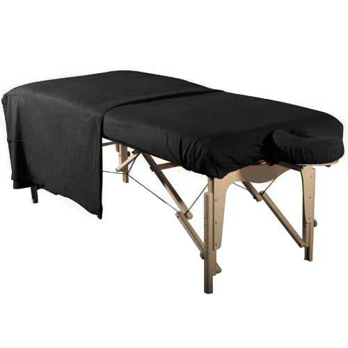 Flannel 3 Piece Massage Table Set - Black - SpaSupply