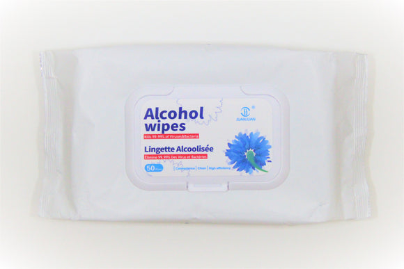 60% Alcohol Wipes 50/bag (4 Pack)
