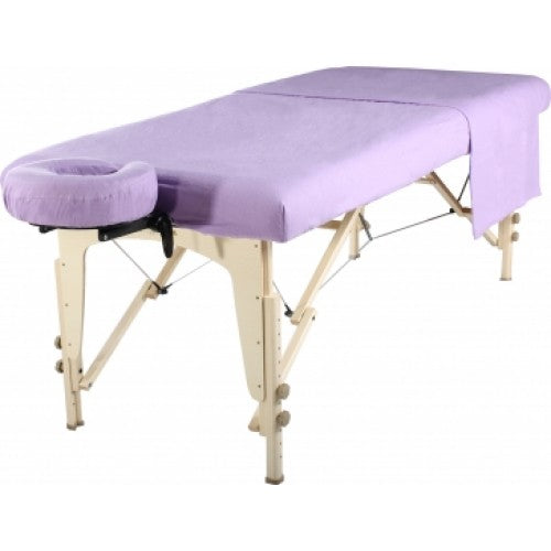 Flannel 3 Piece Massage Table Set - Lavender - SpaSupply