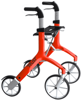 Trust Care Let's Fly Rollator - Red