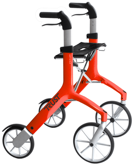 TrustCare Let's Fly Rollator - Red (Pre-Order)
