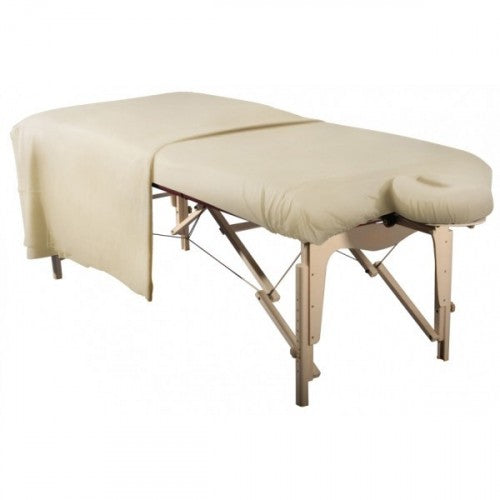 Flannel 3 Piece Massage Table Set - Natural - SpaSupply