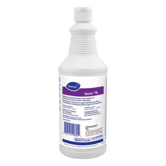 Oxivir Tb All-Purpose Cleaner Disinfectant 946 mL (1 Bottle, No Trigger Spray)