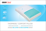 ObusForme Traditional Thermagel Memory Foam Comfort Pillow - SpaSupply