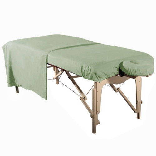 Flannel 3 Piece Massage Table Set - Sage - SpaSupply