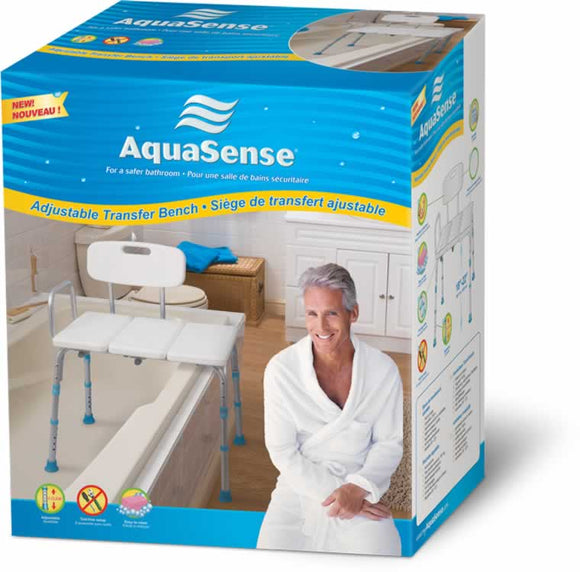 AquaSense Adjustable Bathtub Transfer Bench - SpaSupply