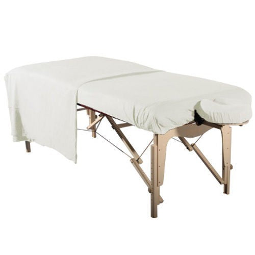 Flannel 3 Piece Massage Table Set - White - SpaSupply