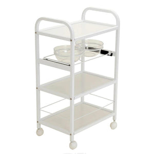 Spa Trolley Cart Four Shelves w/ Two Facial Bowls - SpaSupply