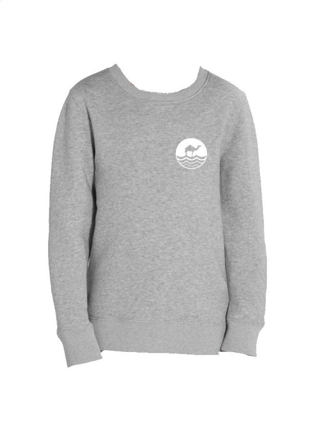 Kids Round Neck - Heather Grey