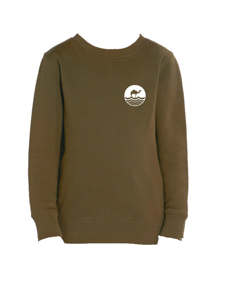 Kids Round Neck - British Khaki
