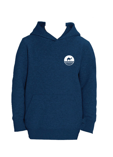 Kids Hoodie - Black Heather Blue