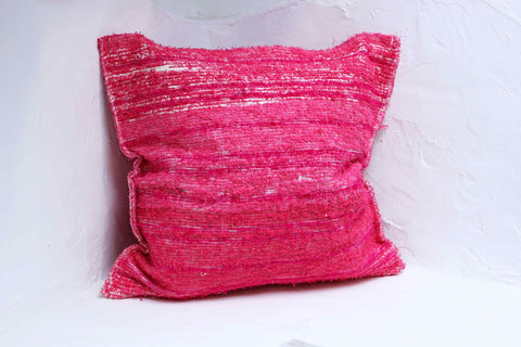Pink handmade cushion cover