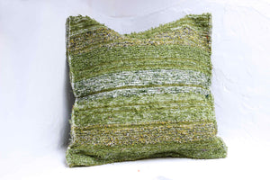 Green handmade cushion cover