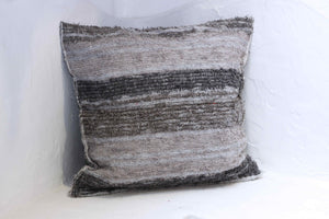 Grey handmade cushion cover