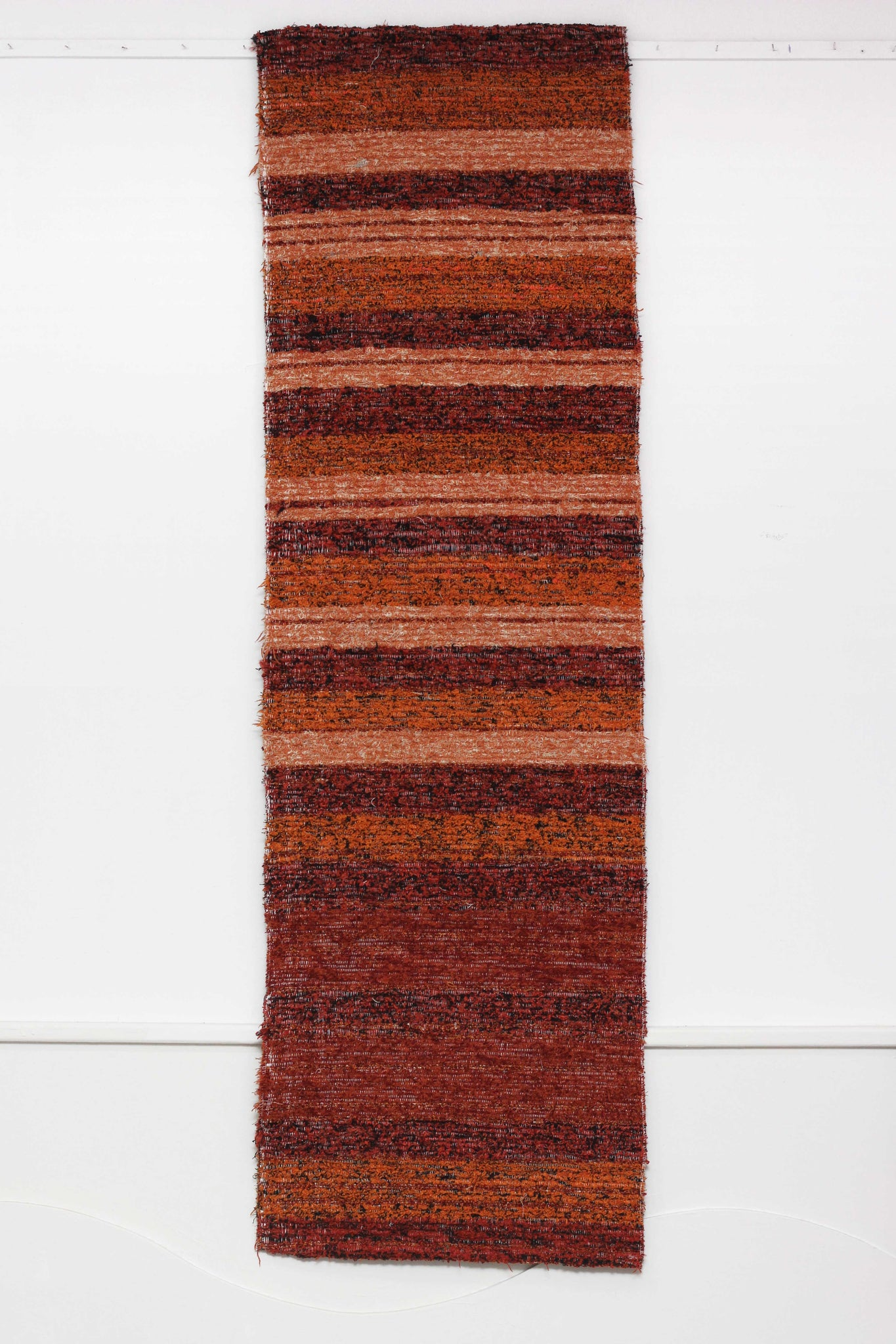 Terracotta Ibiza handmade runner - ideal as a hall runner, kitchen rug or foot of bed rug