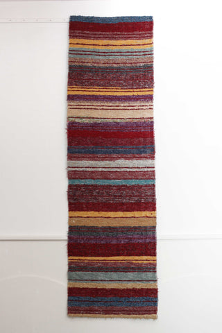 Multicoloured Ibiza handmade runner - ideal as hall runner, kitchen rug or food of bed rug