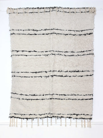 Black & white Scandinavian inspired handmade rug